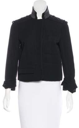 Chloé Wool-Blend-Accented Casual Jacket