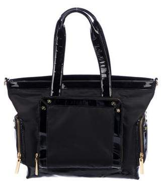 Tory Burch Patent Leather-Trimmed Diaper Bag