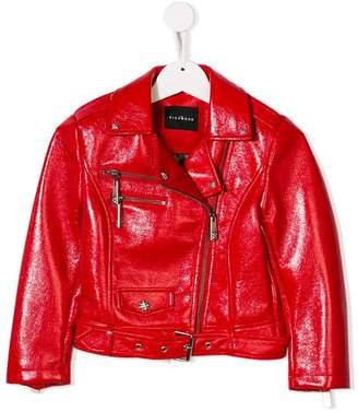 John Richmond Junior faux leather biker jacket