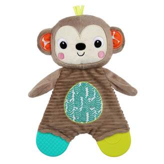Bright Starts Bright Starts 12302 Soft Toy with Teether Monkey Brown