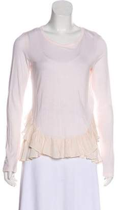 Clu Long Sleeve Ruffled Tee