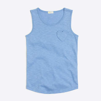 J.Crew Factory Girls' heart pocket tank top