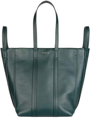 Balenciaga Leather Laundry Tote Bag