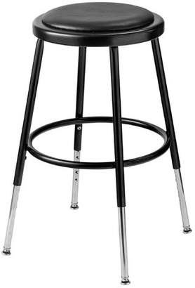 "National Public Seating Height Adjustable Stool with Footring Seat Height: 19"" - 27"","