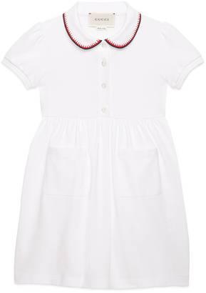 Children's polo dress with crochet trim $385 thestylecure.com