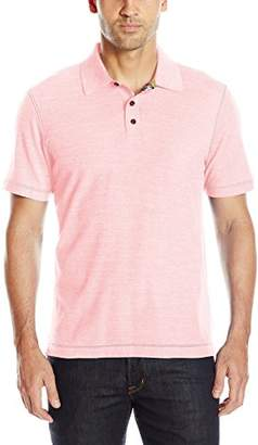 Robert Graham Men's Classic Fit Contrast Print Under Collar Knit Polo