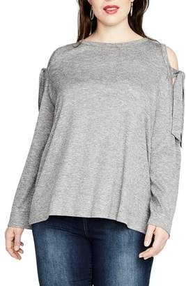 Rachel Roy RACHEL RACHEL BY Tie Shoulder Ribbed Top