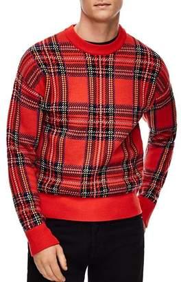 Sandro Tartan Plaid Sweater