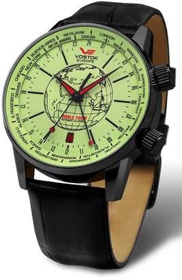 Vostok Europe Vostok-Europe Gaz-Limo Automatic World Timer 32J Men's Watch Dial Black Strap 2426/5604240
