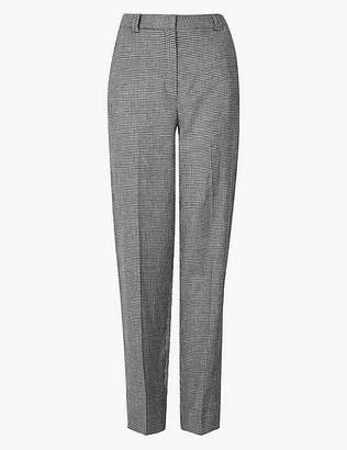 fa551a3d96f Marks and Spencer Freya Relaxed Checked Straight Leg Trousers
