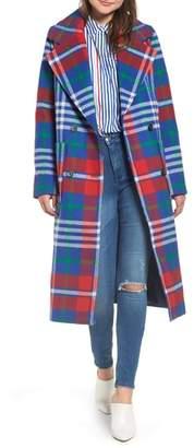 Tommy Jeans Long Plaid Coat