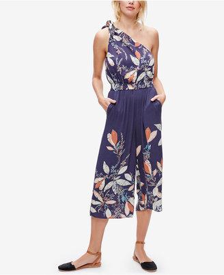 Free People Floral-Print Off-the-Shoulder Jumpsuit $128 thestylecure.com