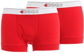 DSQUARED2 Underwear Pack Of 2 Cotton Jersey Boxer Briefs