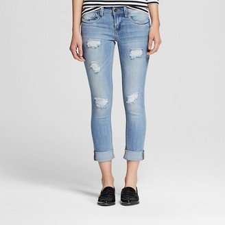 Dollhouse Women's Mid Rise Rolled Crop Jeans Light Wash-Dollhouse (Juniors') $29.99 thestylecure.com