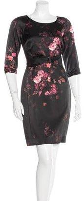 Elie Tahari Floral Printed Silk Dress w/ Tags $145 thestylecure.com
