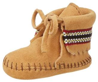 Minnetonka Braid Bootie, Unisex Baby Crawling Baby Shoes,9-12 months Baby UK (19 EU)
