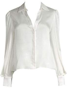 Alice + Olivia Shanda Puff Sleeve Blouse