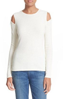 Women's Elizabeth And James Ryan Tie Cold Shoulder Sweater $255 thestylecure.com