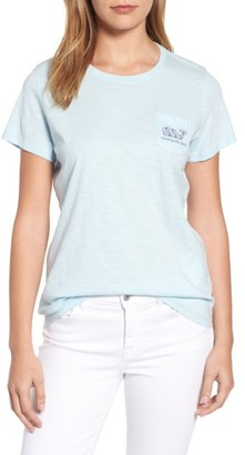 Women's Vineyard Vines Fishbone Whale Relaxed Fit Slub Tee $45 thestylecure.com
