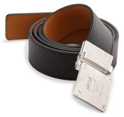 MCM Adjustable Buckle Leather Belt
