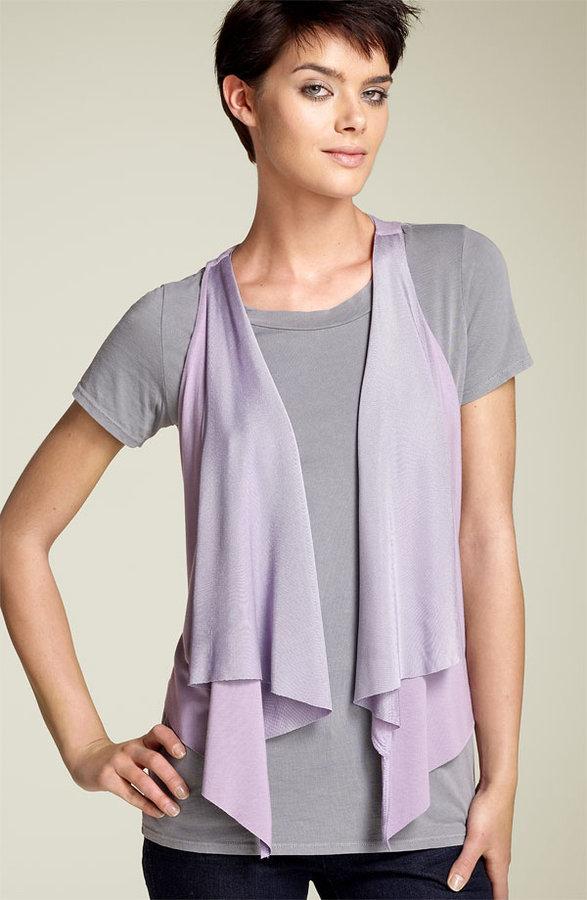 Rachel Pally Mesh Trim Knit Vest