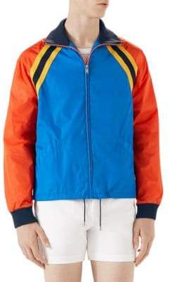Gucci Nylon Jacket With Tiger Patch