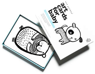 Wee Gallery Art Cards for Baby - Pets Collection