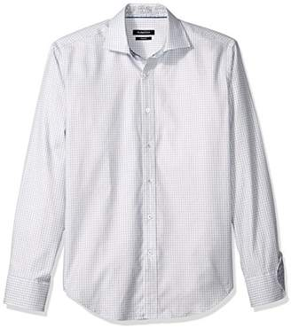 Bugatchi Men's Dylan Long Sleeve Hounds Tooth Button Down Shirt
