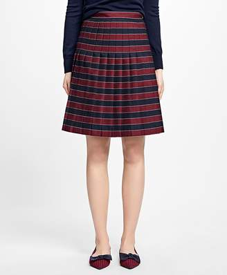 Wool Pleated Stripe Skirt $128 thestylecure.com