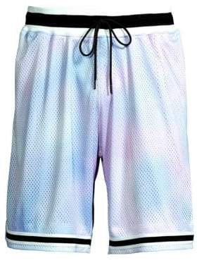 John Elliott Tie-Dye Mesh Basketball Shorts