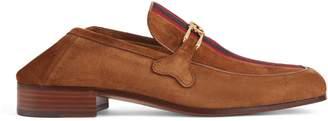 Gucci Suede loafer with Interlocking G