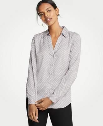Ann Taylor Petite Geo Essential Shirt