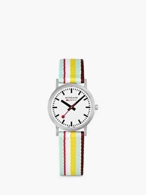 Mondaine Women's SBB Classic Fabric Strap Watch