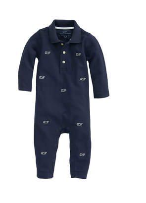 Vineyard Vines Baby Boy Whale Embroidered Coverall