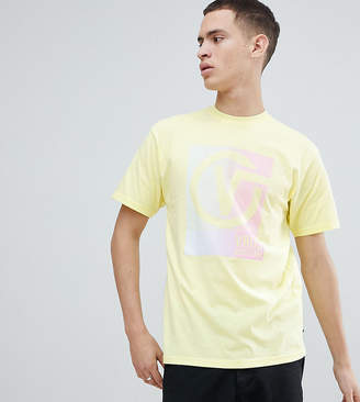 Vans Oversized T-Shirt With Back Print In Yellow Exclusive To ASOS