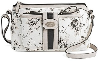 Bolo Women's Faux Leather Crossbody Handbag with Floral Design and Zip Closure - White $34.99 thestylecure.com