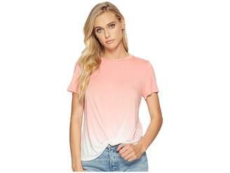 Kensie Viscose Spandex Ombre Knot Top KS4U3028 Women's Clothing