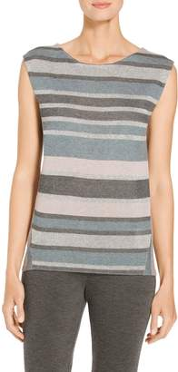 St. John Shimmer Stripe Knit Shell
