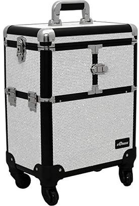 Sunrise E6304 Professional Rolling Makeup Train Case Organizer Storage