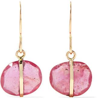 Melissa Joy Manning 14 Karat Gold Sapphire Earrings