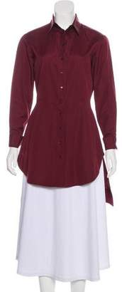 Alaia Long Sleeve Button-Up Top