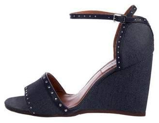 Lanvin Canvas Wedge Sandals