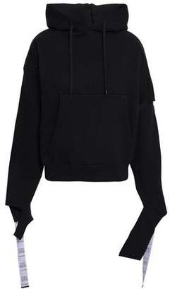 Vetements Cutout French Cotton-blend Terry Hoodie