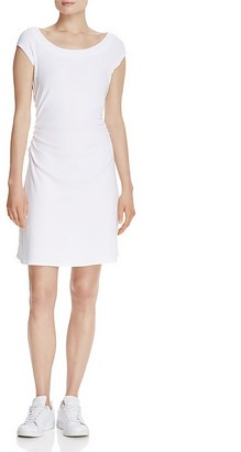 Three Dots Ruched Boat Neck Dress - 100% Exclusive $84 thestylecure.com