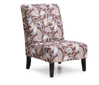 Hodedah Fall Inspired Armless Accent Chair Dark Wooden Legs