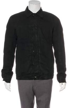 Rick Owens 2017 Coated Twill Denim Jacket