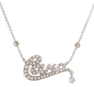 Cara 18K Diamond 'Cara' Nameplate Necklace
