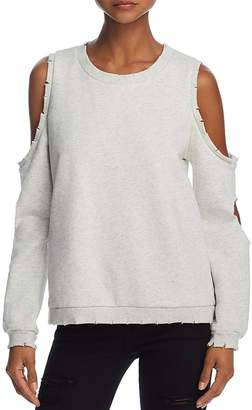 Honey Punch Cold-Shoulder Cutout Sweatshirt