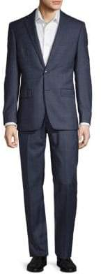 Calvin Klein Windowpane Wool Suit