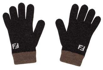 Fendi Wool & Cashmere Gloves
